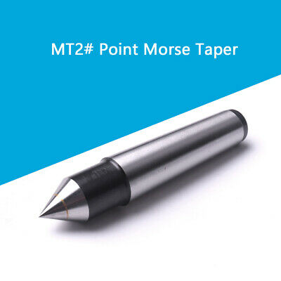 MT2 Fixed Dead Carbide Head Lathe 60° Point Center Bearing Morse Taper 17.78mm
