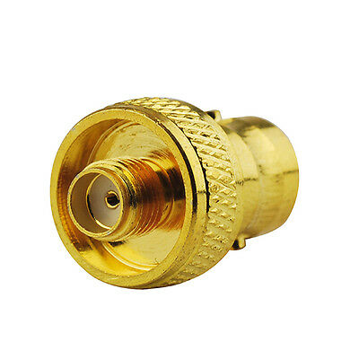 RF adapter BNC Female to SMA Female RF adapter straight connector Gold-plated