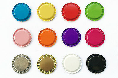 "300 500 1000 1"" Flat Double Sided Painted Linerless Colors Crafts Bottle Caps"