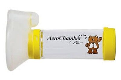 Aerochamber Plus Child Size Spacer device with Mask Yellow
