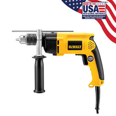 "DEWALT DW511R 1/2"" 7.8 Amp VSR Variable Speed Reversing Corded Hammerdrill Drill"