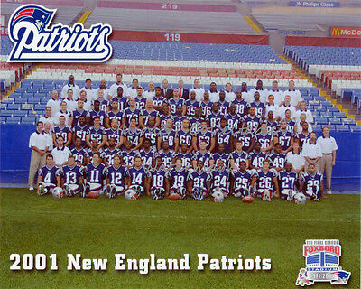 2001 New England Patriots Super Bowl 36 Champions 8X10 Team Photo Picture