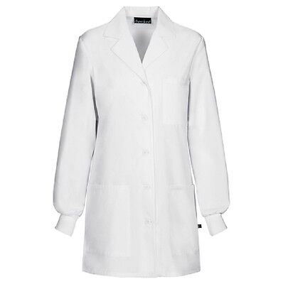 Scrubs Cherokee Womens Antimicrobial Lab Coat  1362A WHTD White  FREE SHIPPING!