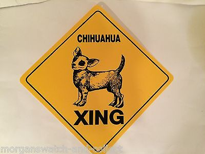 """Chihuahua Dog Xing Sign *New* Crossing Sign 12"""" X 12"""" Durable Plastic"""