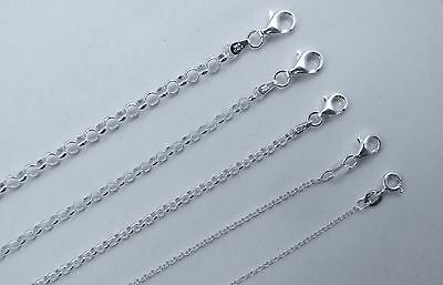 Rolo Chain 1mm to 4mm Italian Sterling Silver 14,16,18,20,22,24,30 inch 925 NEW