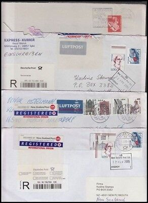 GERMANY COMMERCIAL COVERS TO NEW ZEALAND (x12) 1960's-2005 (ID:355/D32431)