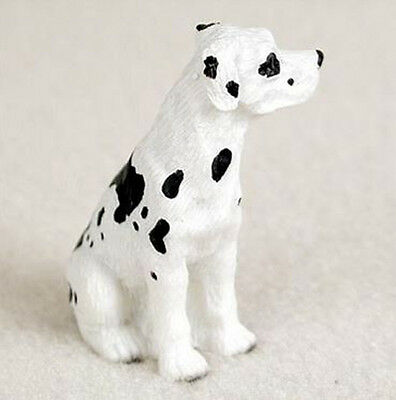 GREAT DANE Harlequin Uncropped TINY ONES DOG Figurine Statue Lovers Gift Resin