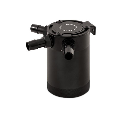 Mishimoto Compact Baffled Oil Catch Can - 3 Port - Black