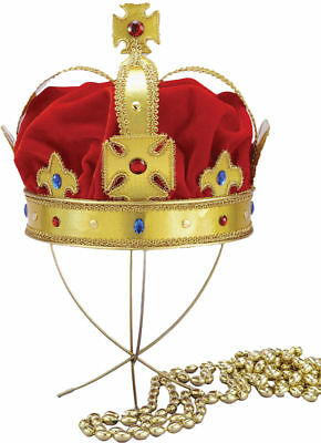 Morris Costumes Adult Regal King Crowns & Tiaras Red Gold One Size. FM59048