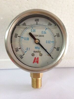 "2.5""60mm vacuum shockproof oil filled  pressuregauge  Radial mount manometer"