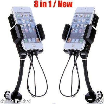 8 in 1 FM Transmitter Hands Free Charger Car Holder for iPhone 5 6 iPod Samsung