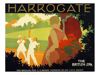 Harrogate 1920's Rail Travel Classic Poster Print New
