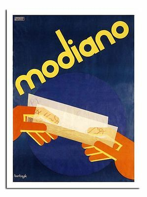 Modiano Cigarette Papers Art Deco 1930s Classic Advert Poster Print New