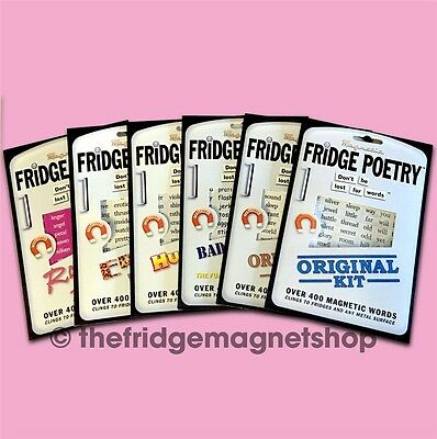 Fridge Poetry Magnet Magnetic Words Sets Novelty Gift Perfect Stocking Filler