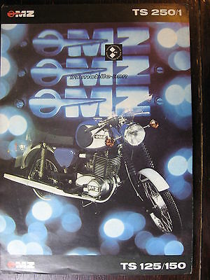 Brochure Catalogue  Moto 1978  Mz Ts 250/1 Ts 125 / 150