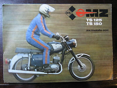 Brochure Catalogue  Moto Mz 1980  Ts 125 / 150