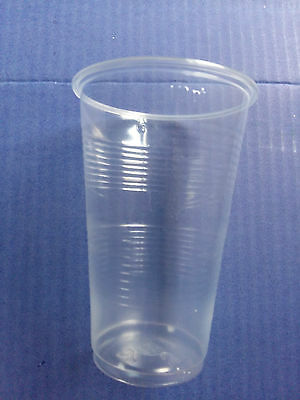 Clear Plastic Disposable Half Pint Tumbler Glasses Cups Glass Great Value Cheap!
