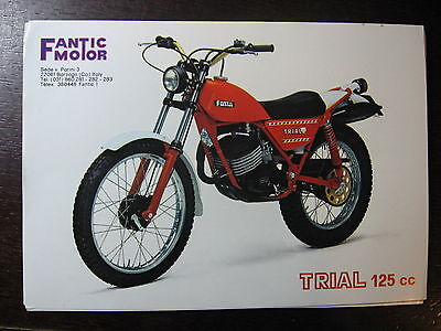 Brochure Catalogue 1979 Moto Fantic  Trial 125