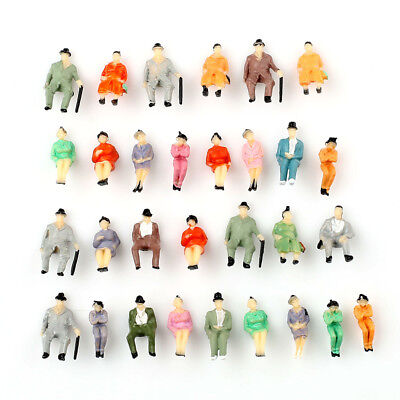 30pcs 1:87 Scale ALL Seated Model People Passengers Sitting Figures Well Painted
