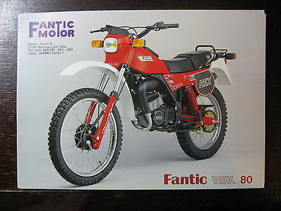 Brochure Catalogue 1982 Moto Fantic Rsx 80