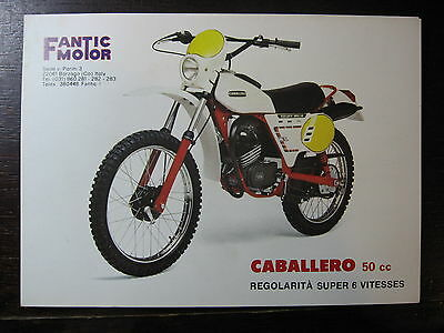 Brochure Catalogue 1982 Moto Fantic Caballero 50 Regolarita Super 6 Vitesses