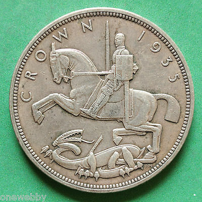 1935 - George V - Silver Crown - SNo31494