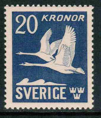 Sweden Air Mail 1942 Sc#C8c 4-sided perf, Flying Swan, MNH** cp1