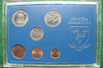 1973 - Isle of Man - UNC - Year set - Very rare - only 1000 minted - SNo36373