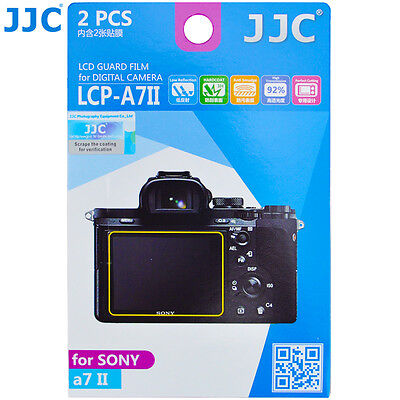JJC LCP-A7II LCD Film Screen Display Protector for SONY A7II Mark II Camera