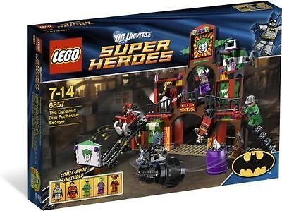 NEW SEALED LEGO SUPERHEROES #6857 THE DYNAMIC DUO FUNHOUSE ESCAPE Retired Set