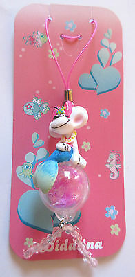 Pendentif Portable Porte Cle Neuf Diddl  Diddlina Sirene & Sphere Paillette Rose