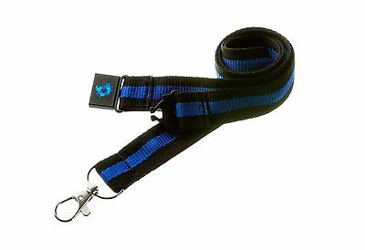 B27 Firearms Target Police Sheriff Thin Blue Line Faux Leather Key Ring