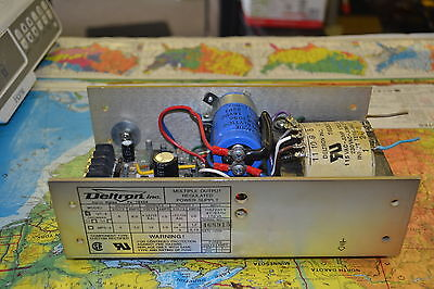 Deltron Qt-2 Multiple Output Regulated Power Supply  Used