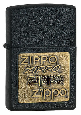 Zippo Windproof Black Crackle Lighter With Brass Zippo Emblem # 362, New In Box