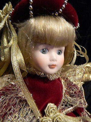 """Angelica """" 16"""" Porcelain Doll Seymour Mann Connoissur Collection Angel Doll"""
