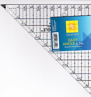 """Easy Angle 6.5"""" ruler for cutting half square triangle"""