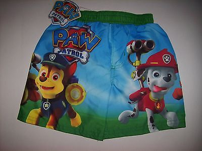 Paw Patrol Swimsuit Swimwear Trunks Boy 2Toddler Nickelodeon Asst Characters NWT