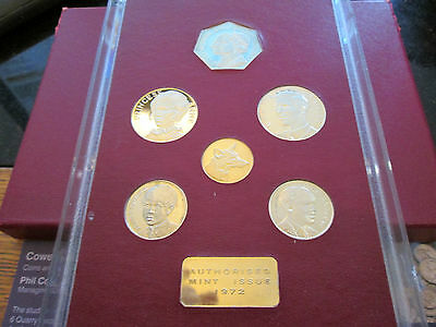 1972 The Royal Silver Wedding Silver Proof Coin Set Of 6 Coins Very Scarce