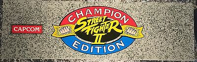 "Street Fighter II Champion Edition Arcade Marquee 26""x8"""