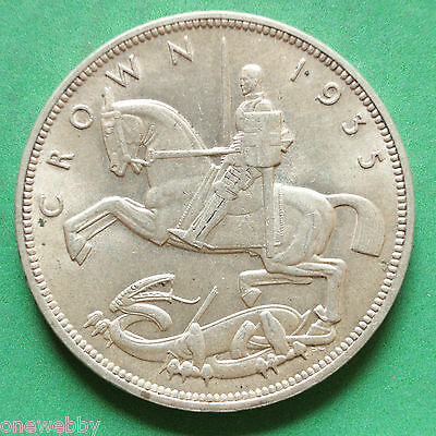 1935 - George V - Silver Crown - SNo18013