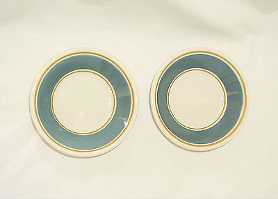 "Set of 2 Syracuse China Restaurant Ware Berry Sauce Bowls~4.75""~Blue/Gold/Ivory"