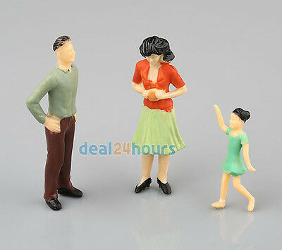 20 Painted Model Train Station Scene Passenger People Figure Poses 1:25 Scale G