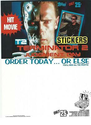 Selling sheet THE TERMINATOR 2 JUDGEMENT DAY Trading Cards 1991