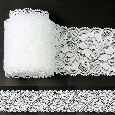 Vintage Style Off-white Lace Elastic Crochet Ribbon Wedding Bridal Dress Sewing
