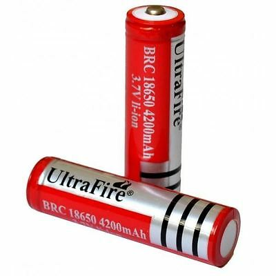 2x UltraFire 18650 4200 3.7V Rechargeable Li-ion Battery for Flashlight torch