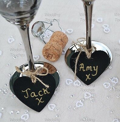 Mini Heart Wooden Chalkboard Perfect for Vintage Wedding Tables & Decoration