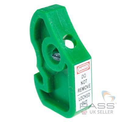 LOTO MCB Circuit Breaker Lockout for Securing Siemens MCBs in Place - Green