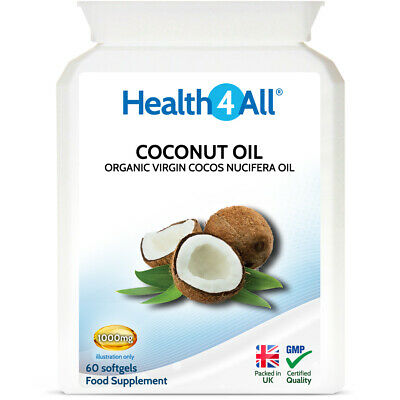 Organic Virgin Coconut Oil 1000mg Capsules Softgels | Weight Loss | Energy