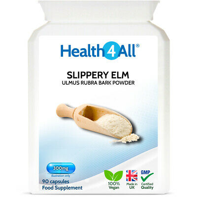 Health4All Slippery Elm 300mg Capsules | ACID REFLUX & STOMACH ULCERS SUPPORT