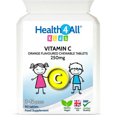 Health4All Kids Vitamin C 250mg Chewable Tablets Orange Flavour | 3 to 12 years